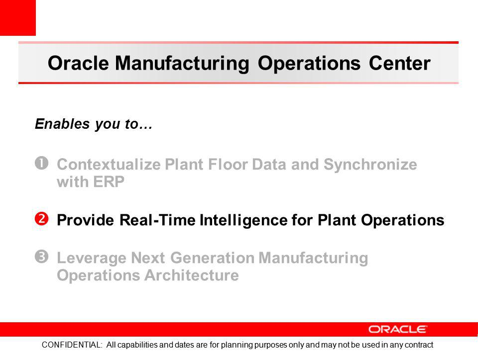 Oracle Manufacturing Operations Center