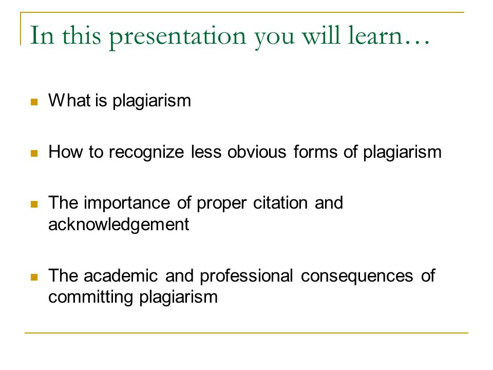 In this presentation you will learn…