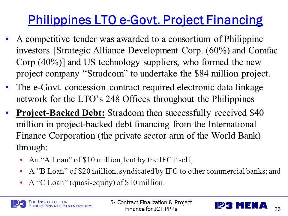 Philippines LTO e-Govt. Project Financing