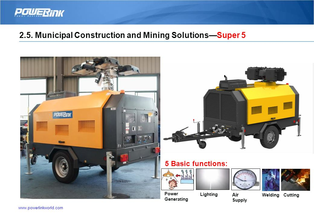 Municipal Construction and Mining Solutions—Super 5 Applications