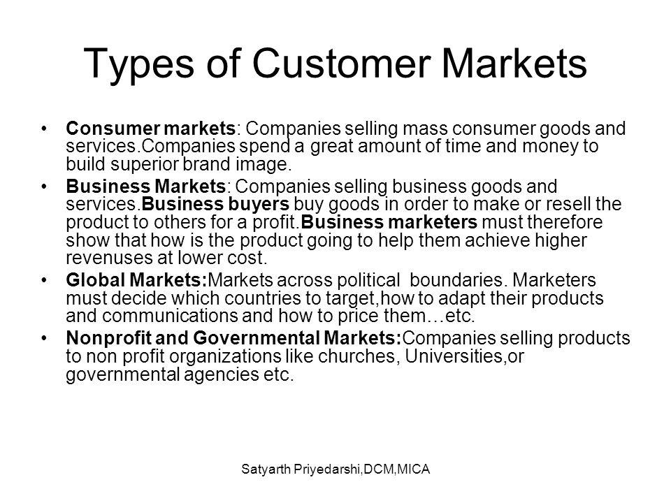 Types of Customer Markets