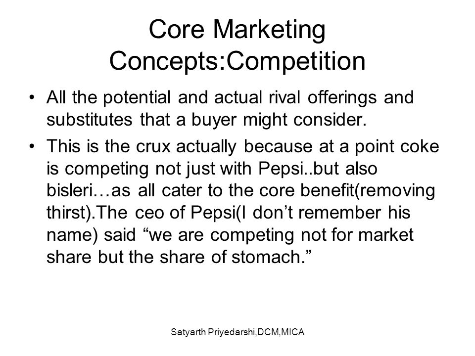 Core Marketing Concepts:Competition