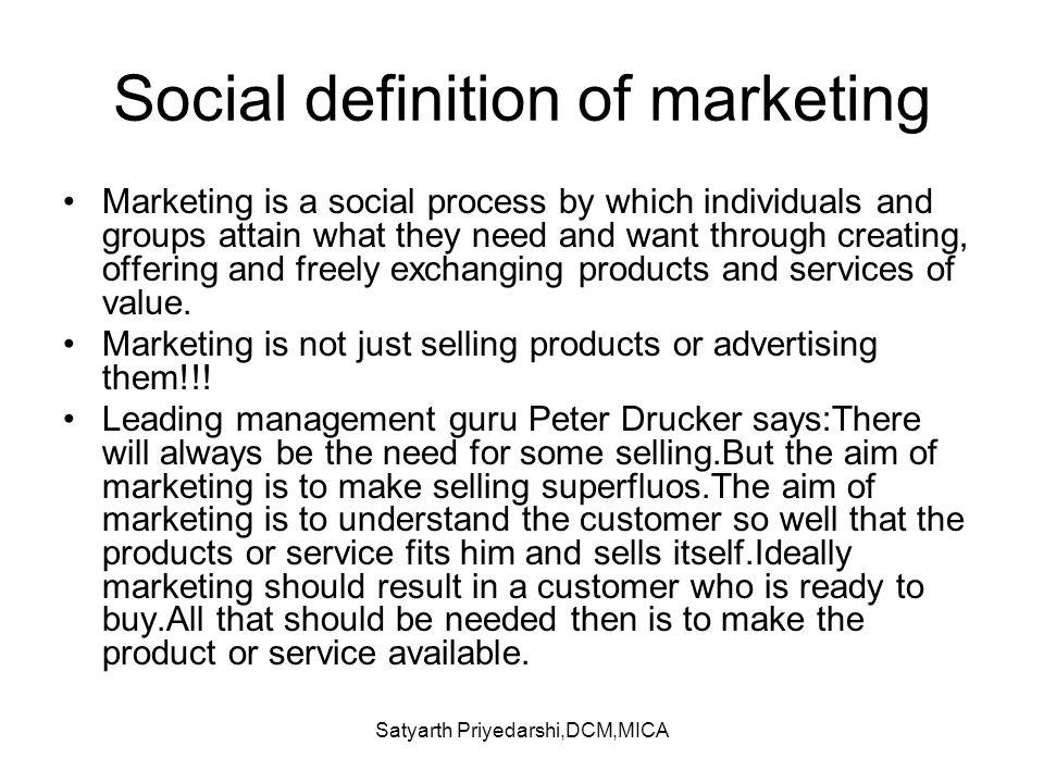 Social definition of marketing