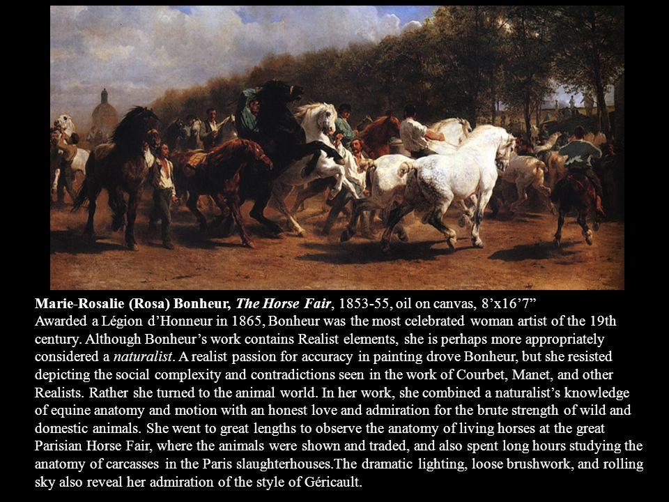 Marie-Rosalie (Rosa) Bonheur, The Horse Fair, 1853-55, oil on canvas, 8'x16'7