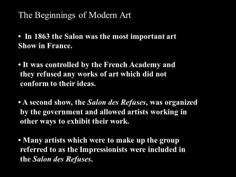 The Beginnings of Modern Art
