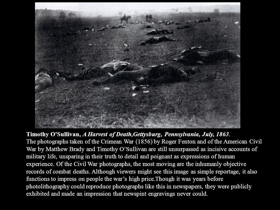 Timothy O'Sullivan, A Harvest of Death,Gettysburg, Pennsylvania, July, 1863.