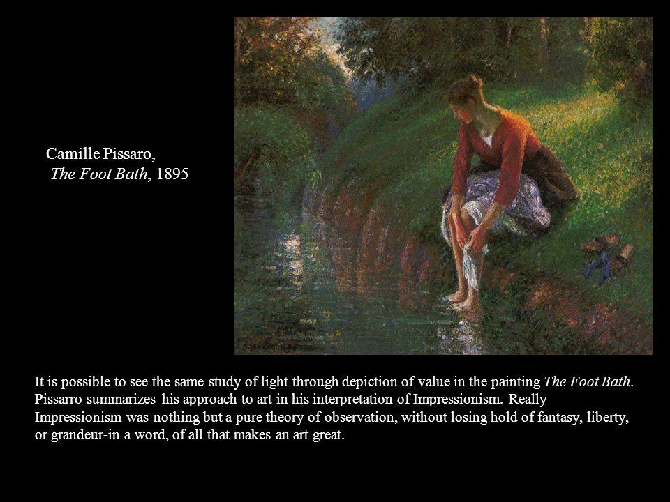 Camille Pissaro, The Foot Bath, 1895