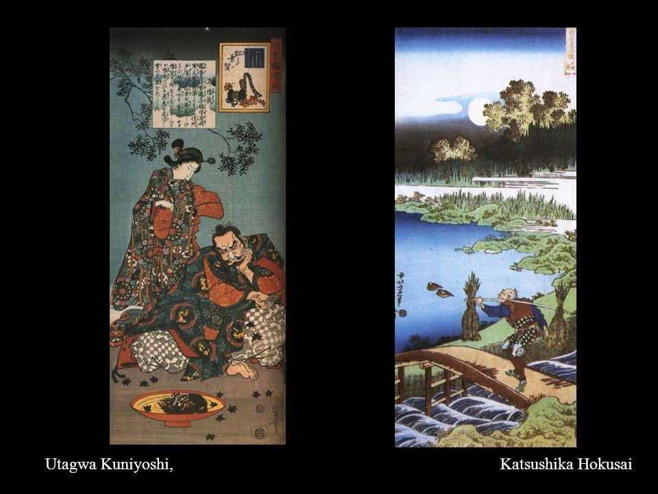 Utagwa Kuniyoshi, Katsushika Hokusai