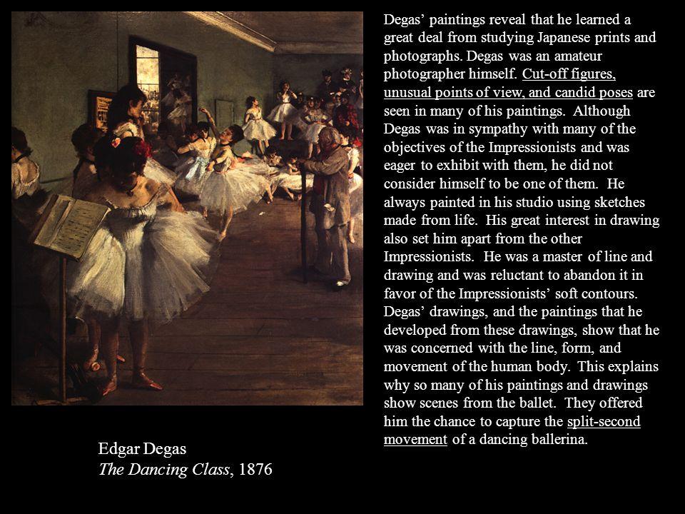 Edgar Degas The Dancing Class, 1876