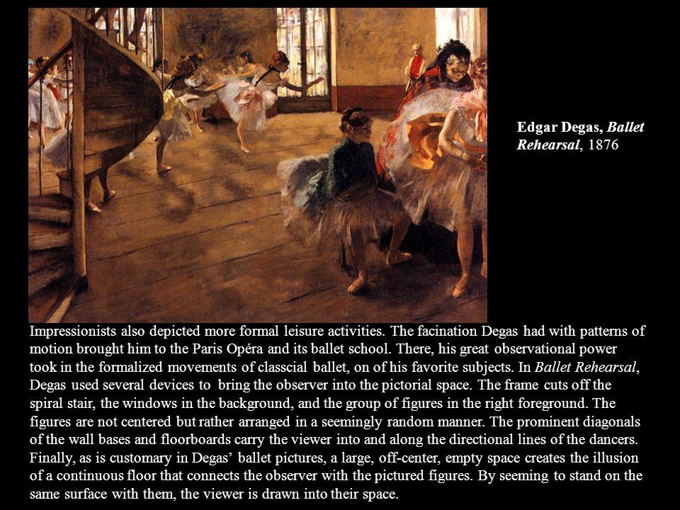 Edgar Degas, Ballet Rehearsal, 1876