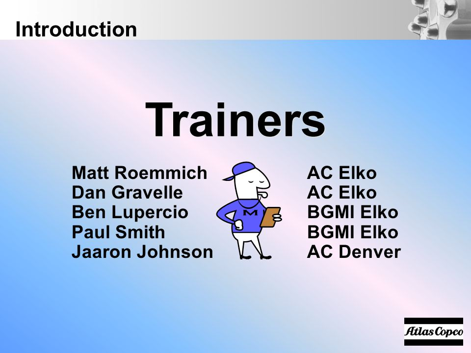 Trainers Introduction