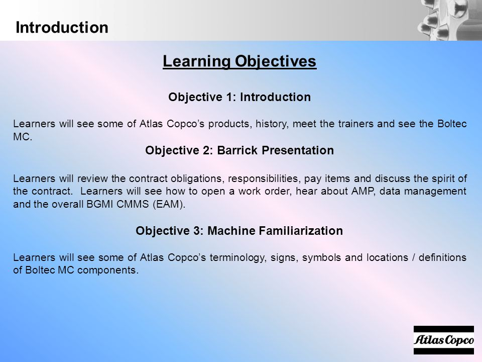 Introduction Learning Objectives Objective 1: Introduction