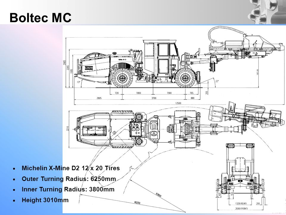 Boltec MC Michelin X-Mine D2 12 x 20 Tires