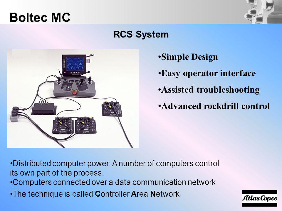 Boltec MC RCS System Simple Design Easy operator interface