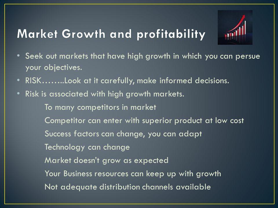 Market Growth and profitability