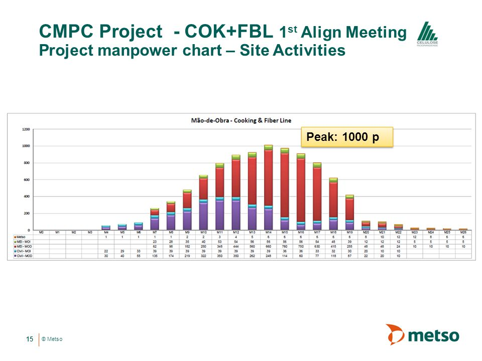 CMPC Project - COK+FBL 1st Align Meeting Project manpower chart – Site Activities