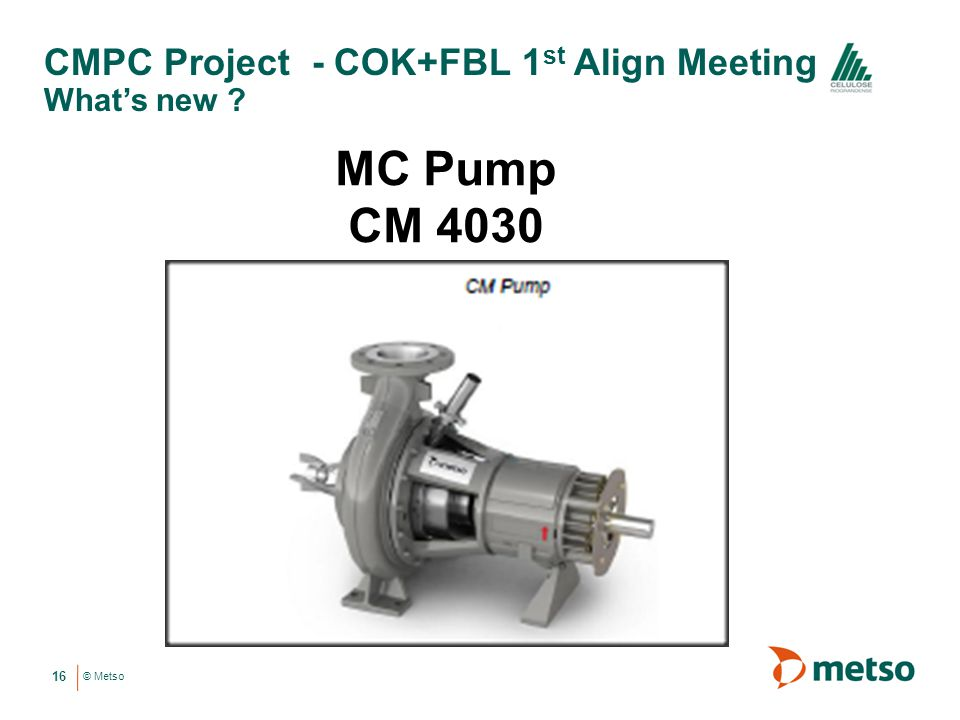 CMPC Project - COK+FBL 1st Align Meeting What's new