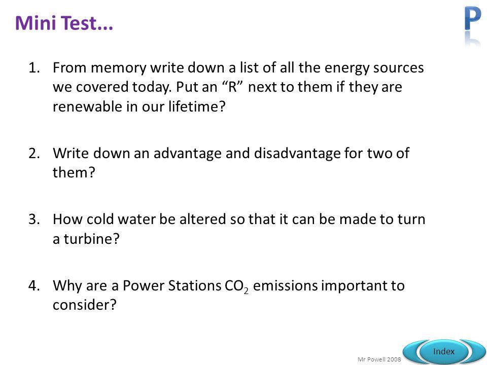 P Mini Test...