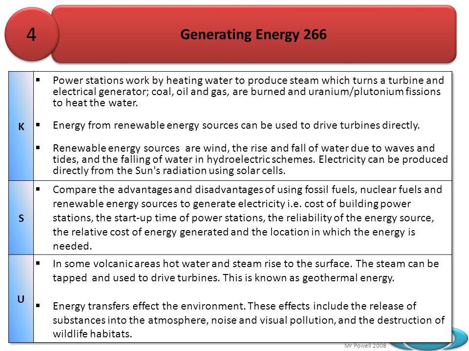 4 Generating Energy 266. K.