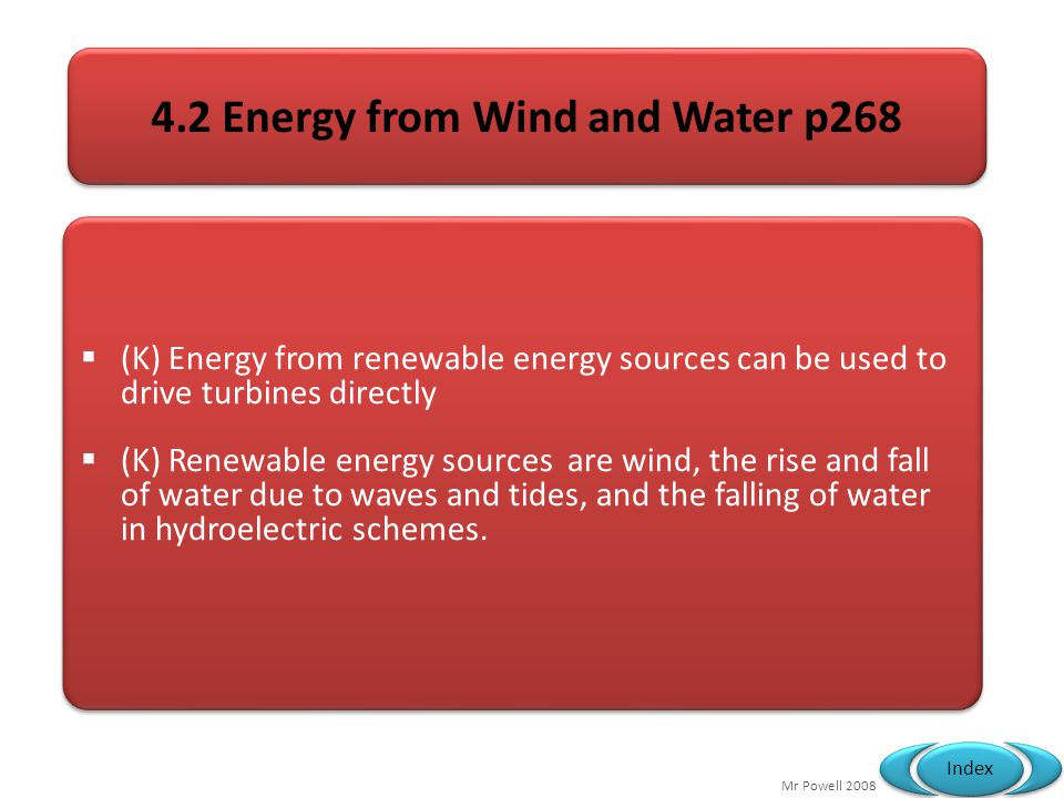4.2 Energy from Wind and Water p268