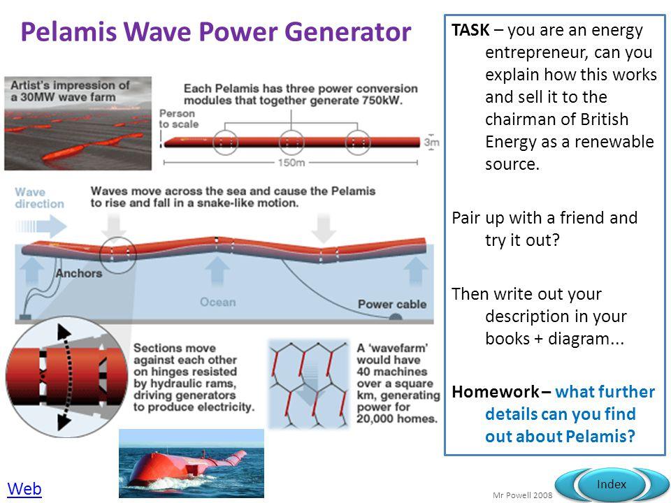 Pelamis Wave Power Generator