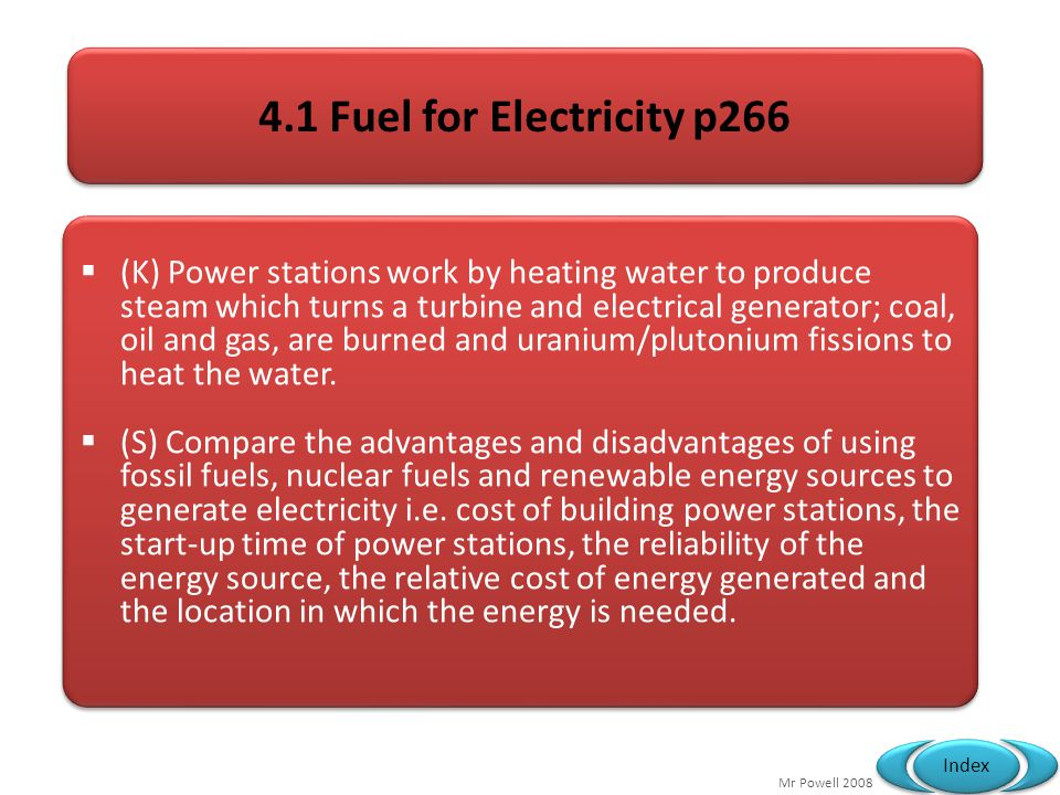 4.1 Fuel for Electricity p266