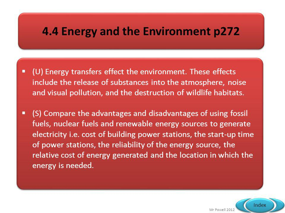 4.4 Energy and the Environment p272