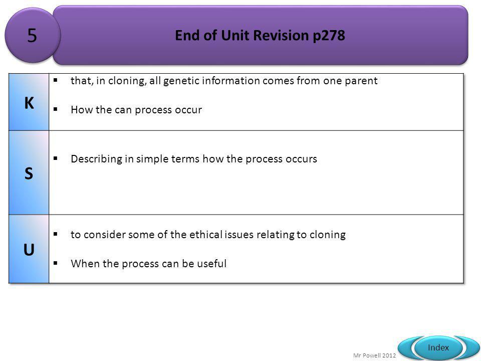 5 K S U End of Unit Revision p278