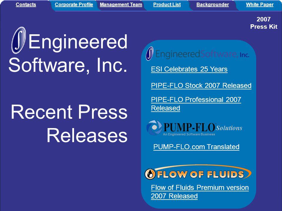 Engineered Software, Inc.