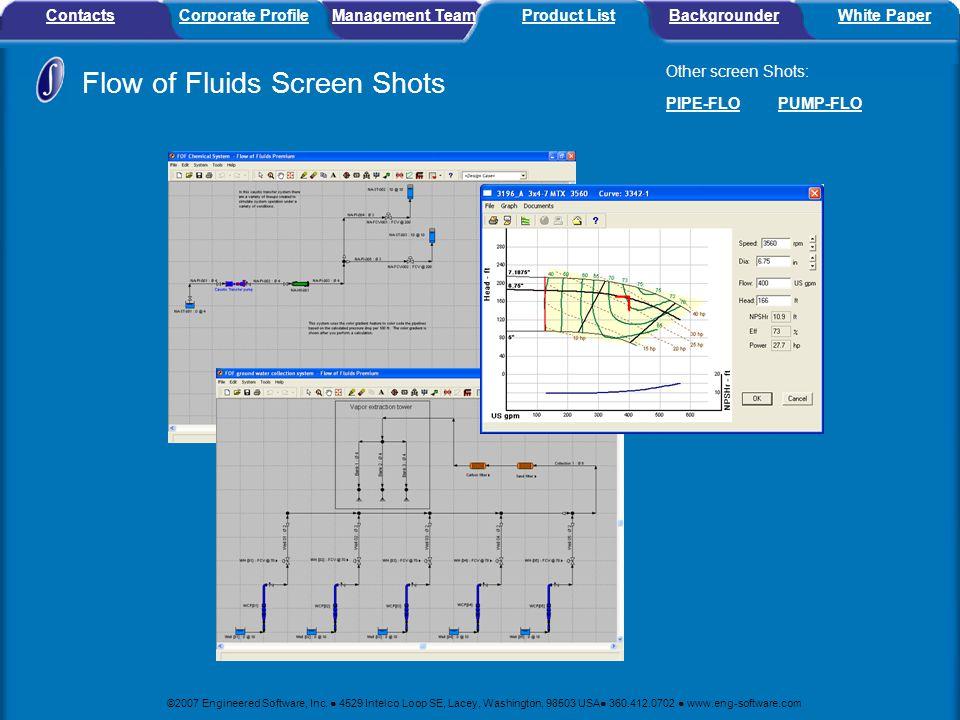 Flow of Fluids Screen Shots