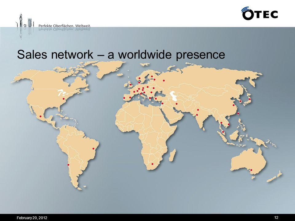 Sales network – a worldwide presence