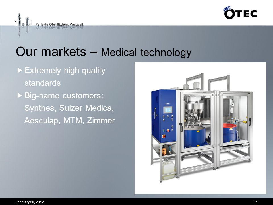 Our markets – Medical technology