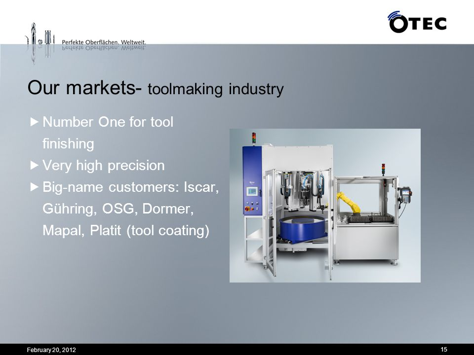 Our markets- toolmaking industry