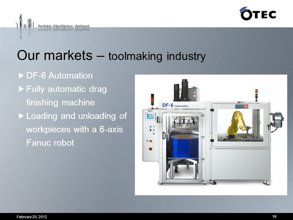 Our markets – toolmaking industry