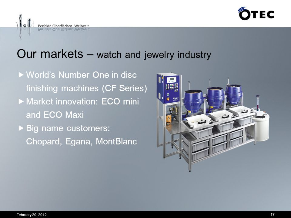 Our markets – watch and jewelry industry