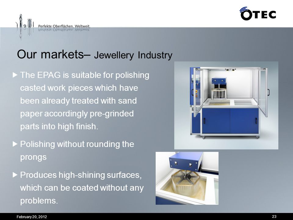 Our markets– Jewellery Industry