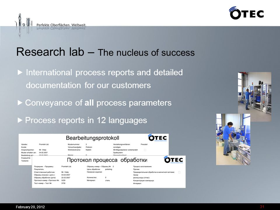 Research lab – The nucleus of success