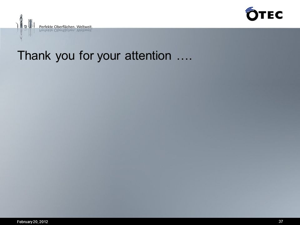 Thank you for your attention ….