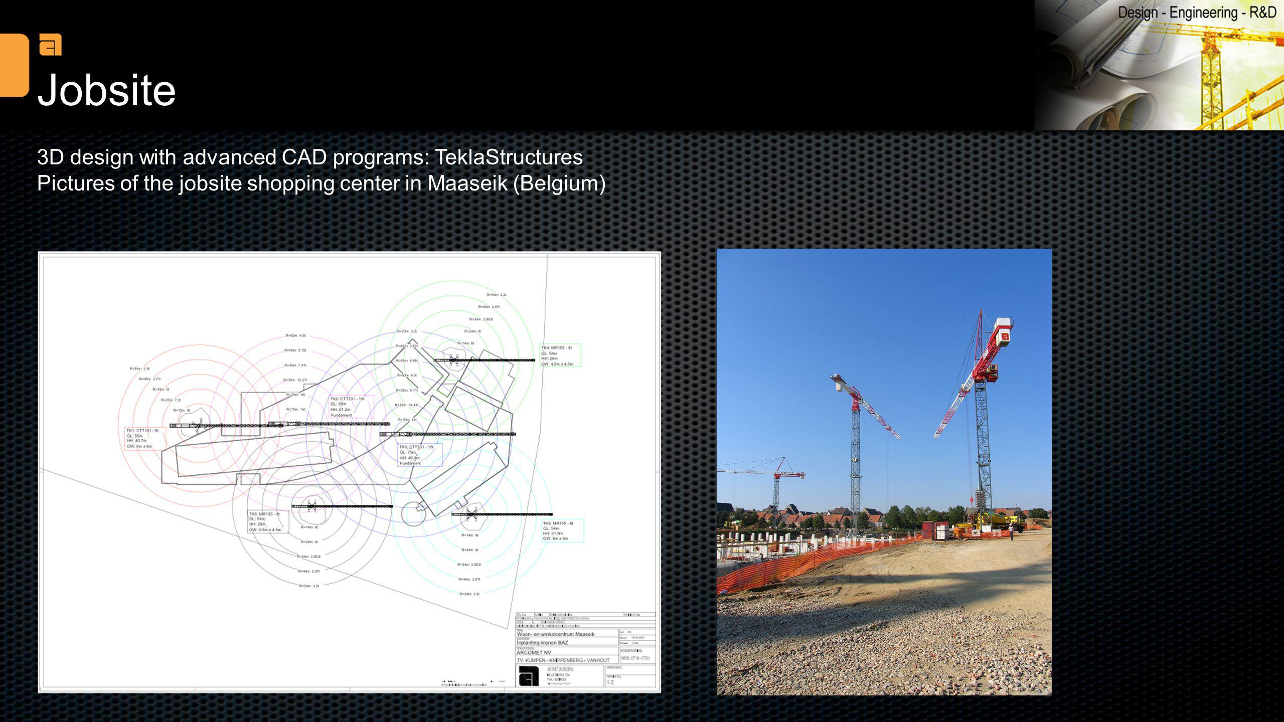 Jobsite 3D design with advanced CAD programs: TeklaStructures