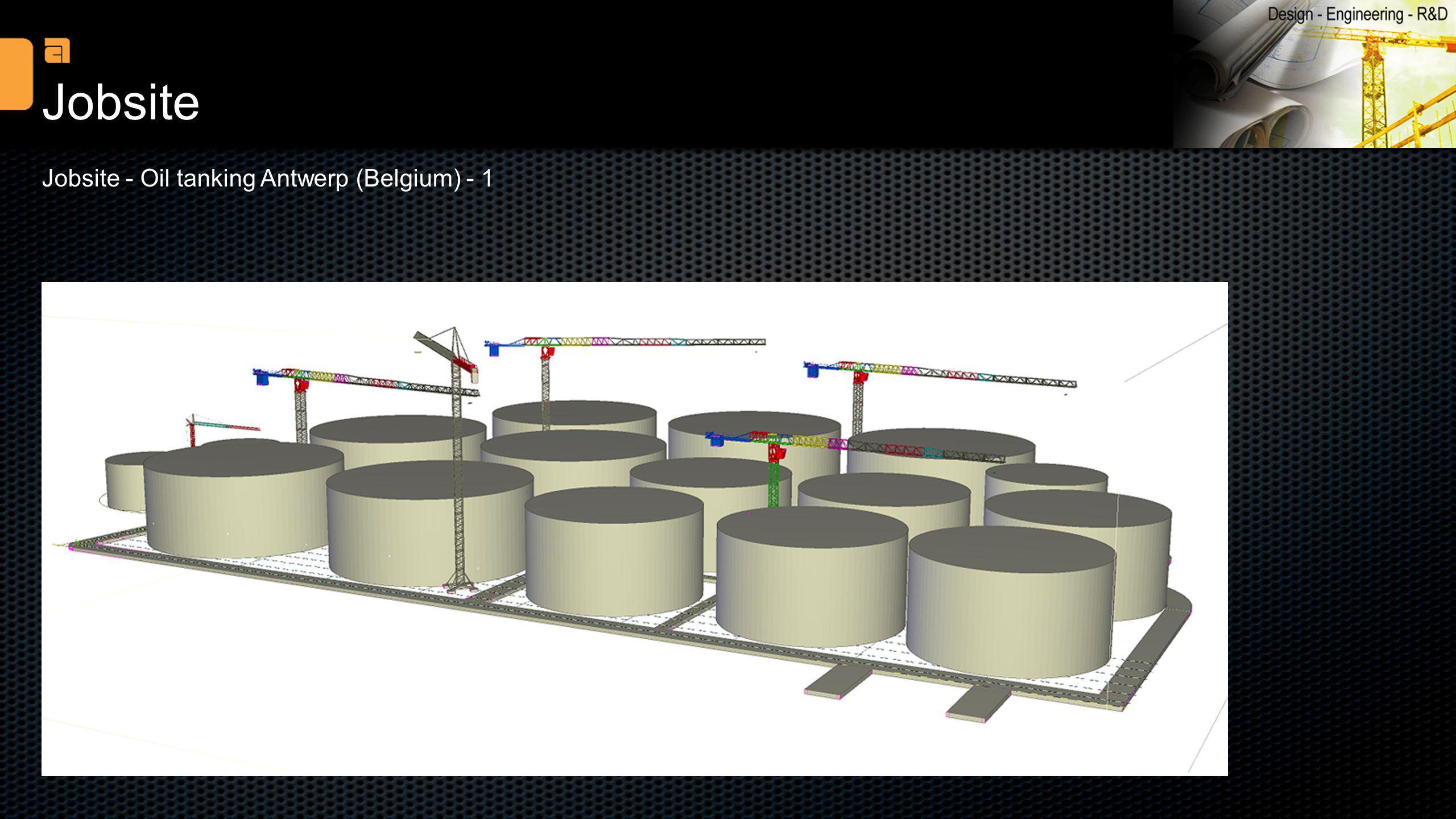 Jobsite Jobsite - Oil tanking Antwerp (Belgium) - 1