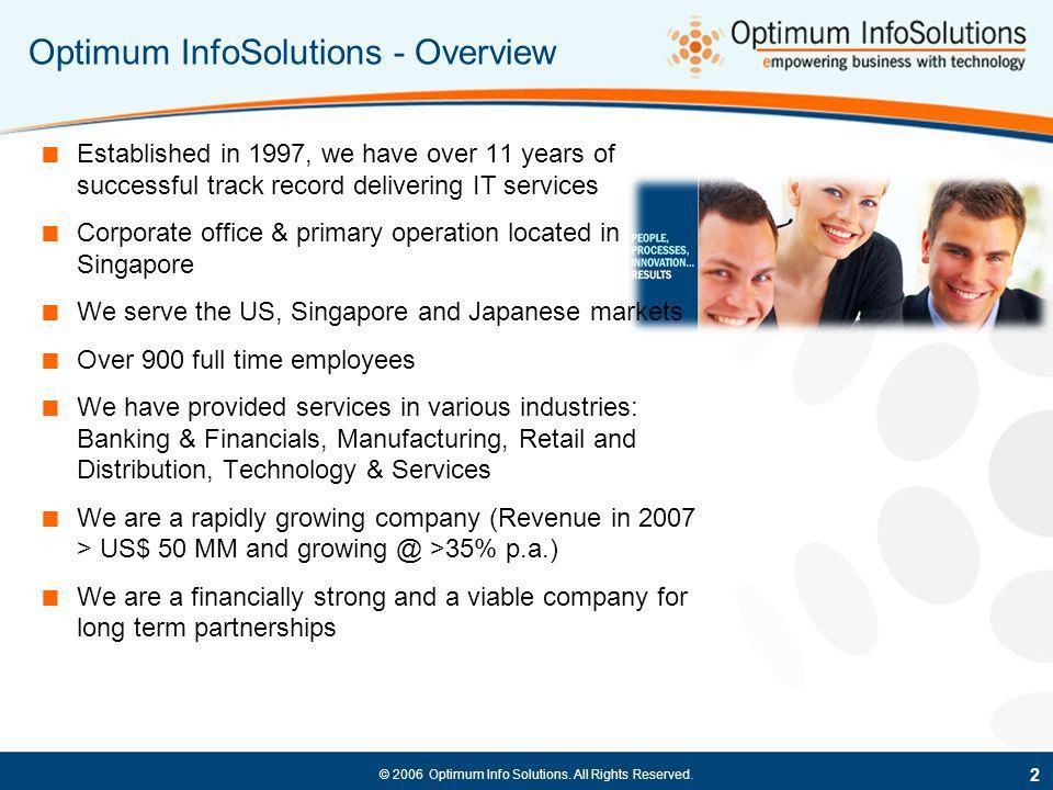 Optimum InfoSolutions - Overview