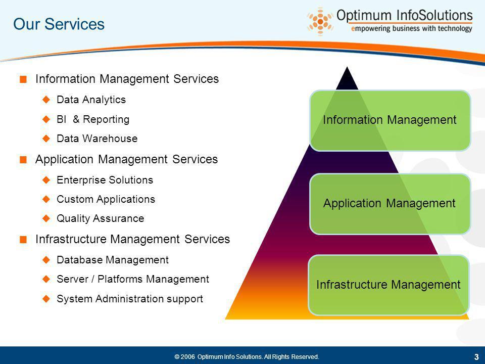 Our Services Information Management Application Management