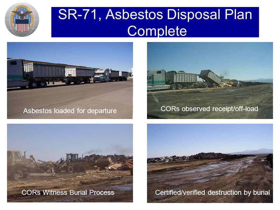 SR-71, Asbestos Disposal Plan Complete
