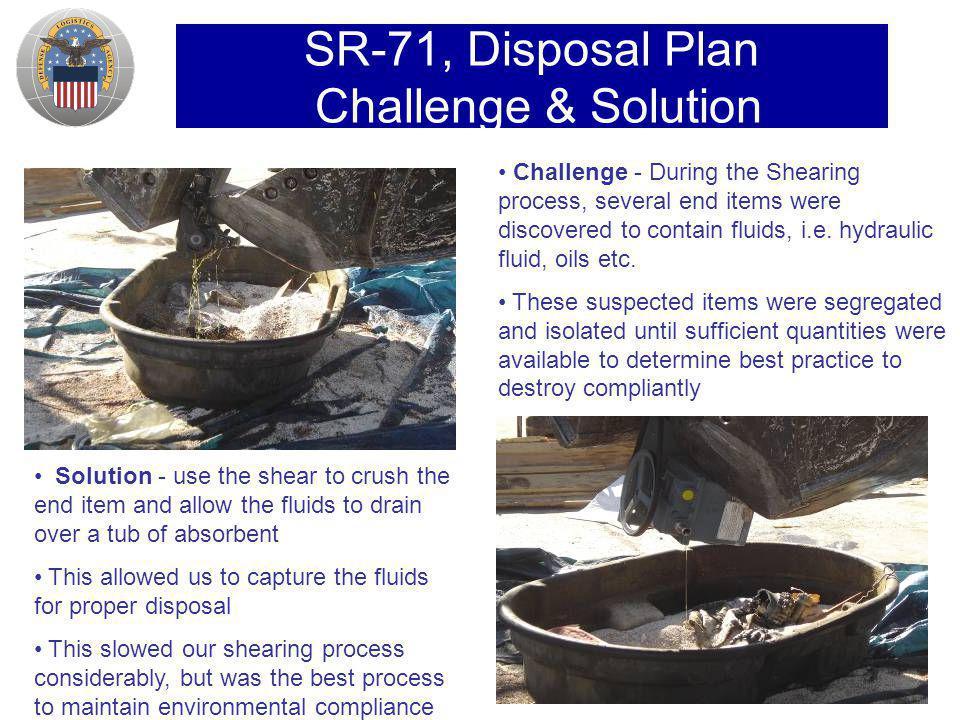SR-71, Disposal Plan Challenge & Solution