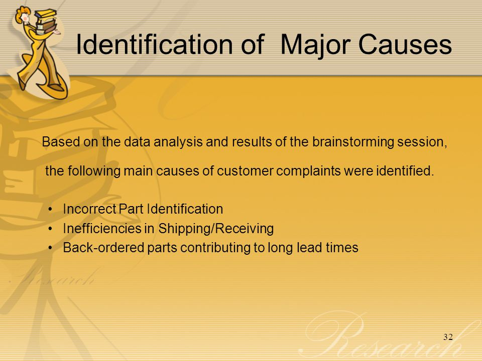 Identification of Major Causes