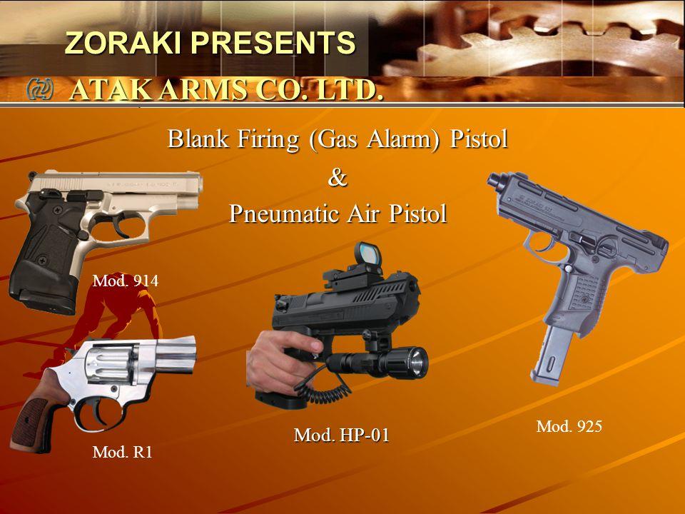 Blank Firing (Gas Alarm) Pistol &