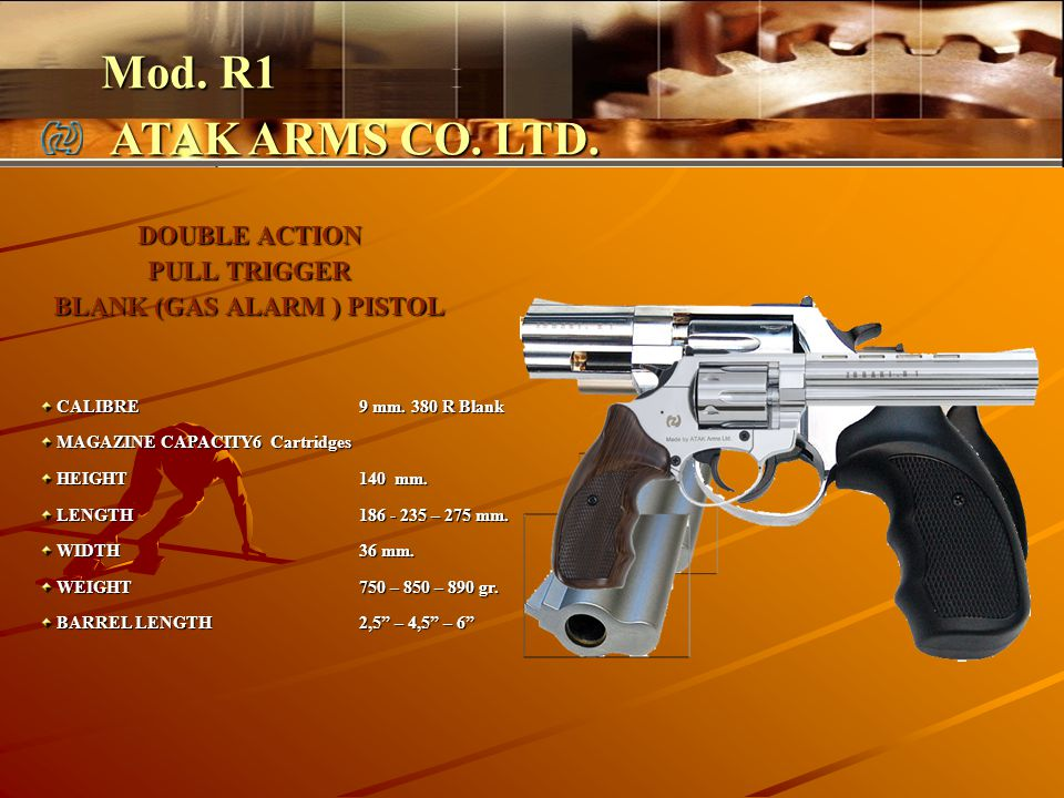 DOUBLE ACTION PULL TRIGGER BLANK (GAS ALARM ) PISTOL