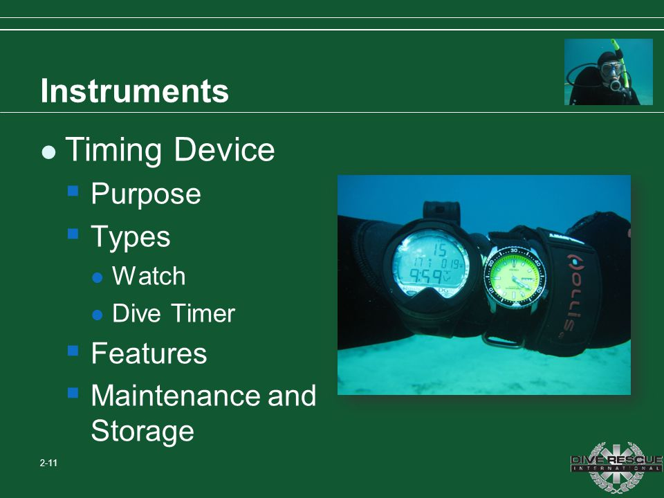Instruments Timing Device Purpose Types Features