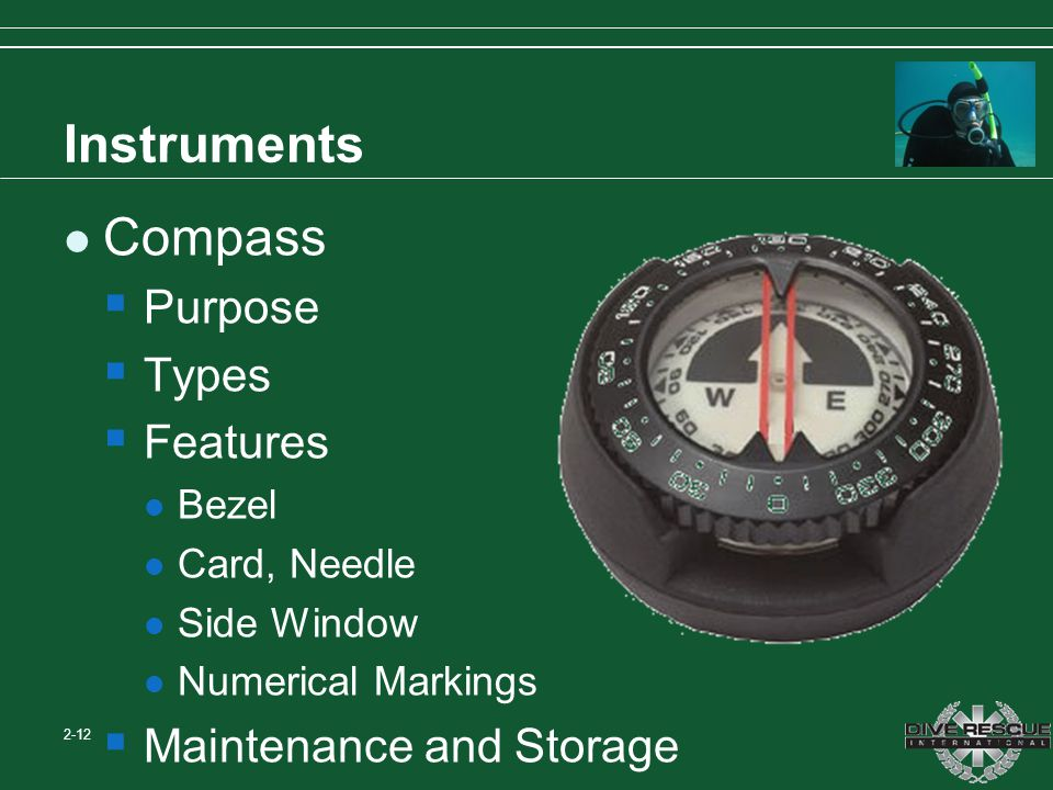 Instruments Compass Purpose Types Features Maintenance and Storage