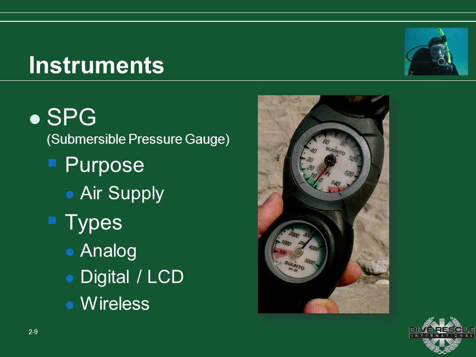 SPG (Submersible Pressure Gauge)